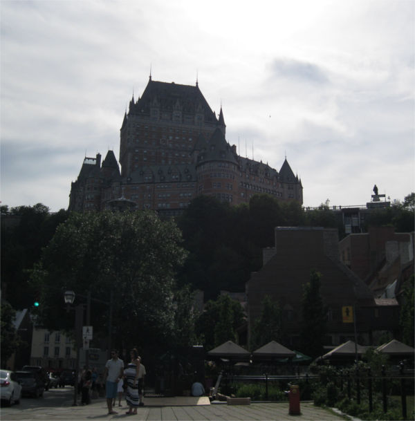 Chateau Frontenac from afar