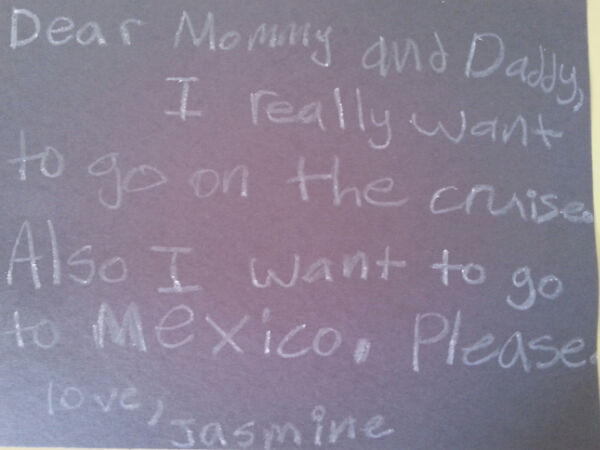 "How do you say ""no"" to this?  She even learned Spanish before the trip."