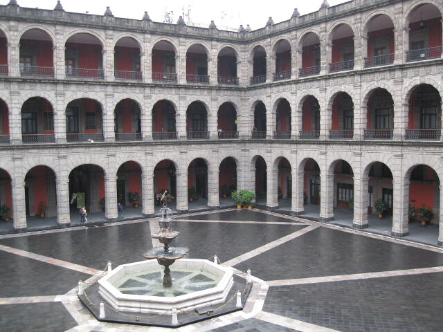 Main courtyard of the National Palace, Mexico City
