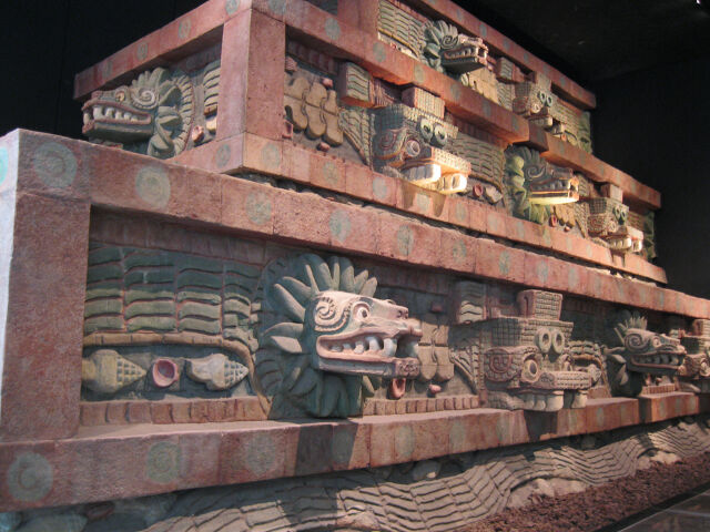 Pyramid with snakes and monsters, National Anthropology Museum, Mexico City