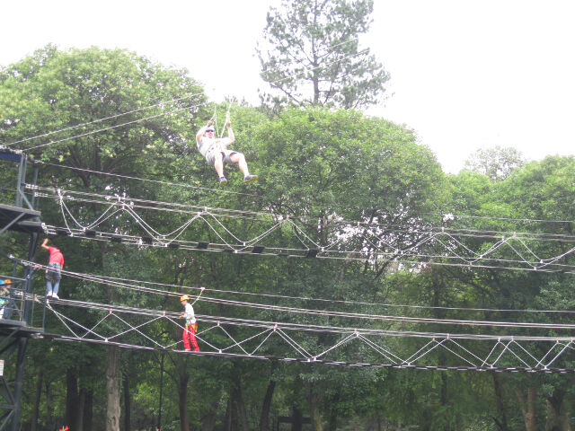 Some of the fun stuff: $2 USD for admission to the ropes course and zip line.  Wheeee!