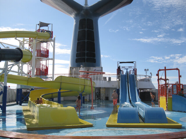 Carnival Fascination waterslides