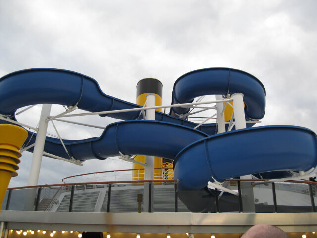 Water slide on the Costa Atlantica