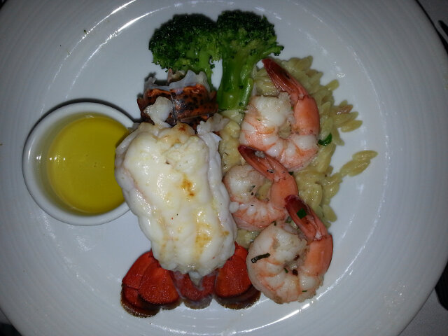 Lobster and shrimp