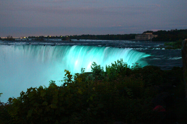 Falls at night.