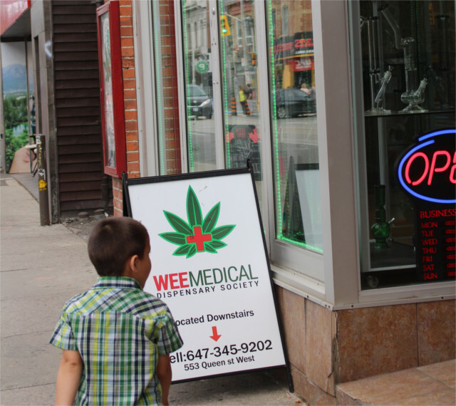 Don't worry, it's not really a pot shop for kids.