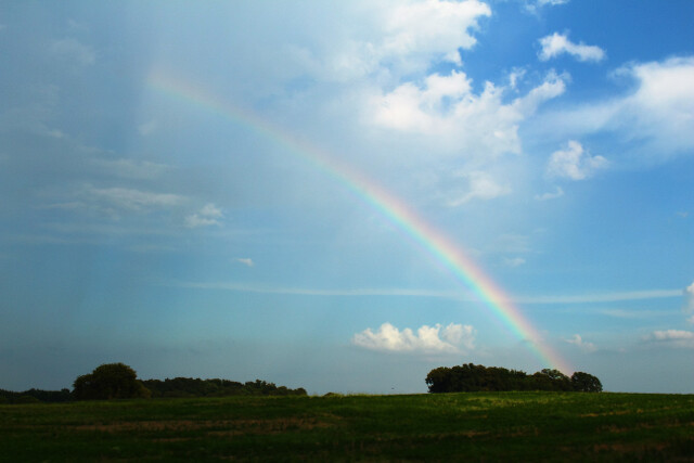 A rainbow wished us well as we departed Bowling Green.