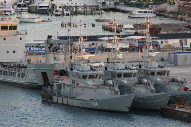 The mighty vessels of the Bahamian Navy