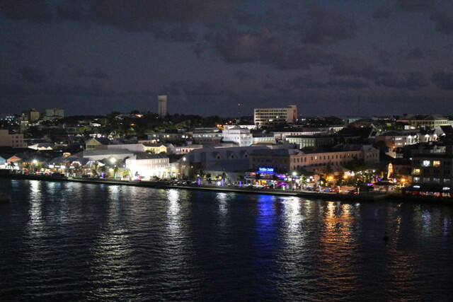 City lights of Nassau as we sailed out of port