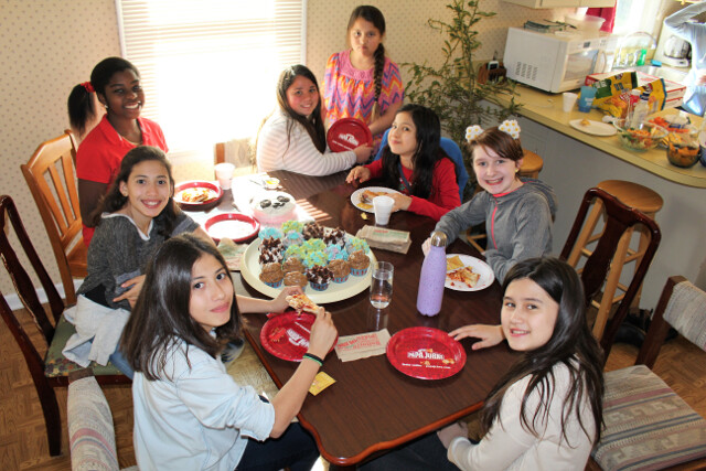 All the besties celebrating 12th birthday for our oldest daughter.