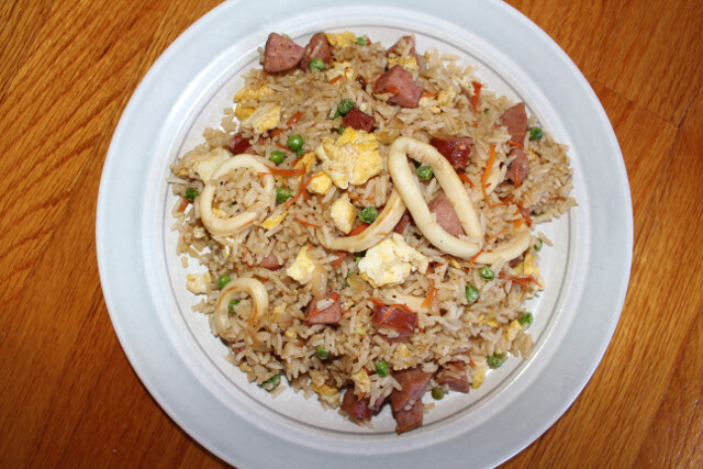 Calamari fried rice