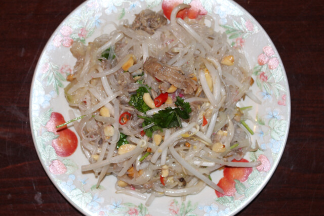 Thai pork cucumber salad