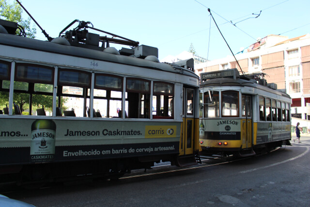 The day pass lets you ride these historic trolleys around the touristic center of town.