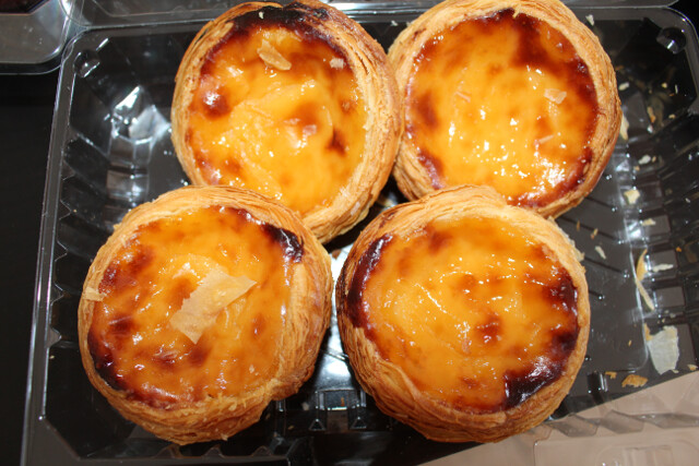 And for dessert - pastel de nata, the most famous sweet treat from Lisbon. We picked these up from the bakery in the grocery store next to our apartment for $0.35 each.