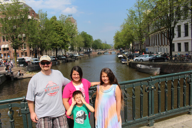 Amsterdam was one of the more expensive places we visited in Europe. But the canals were worth it!