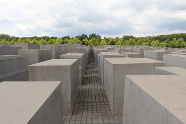 I'll leave you with this picture that makes money talk seem small. There's a city block in Berlin entirely covered in these rectangular blocks. Almost 3,000 in total.