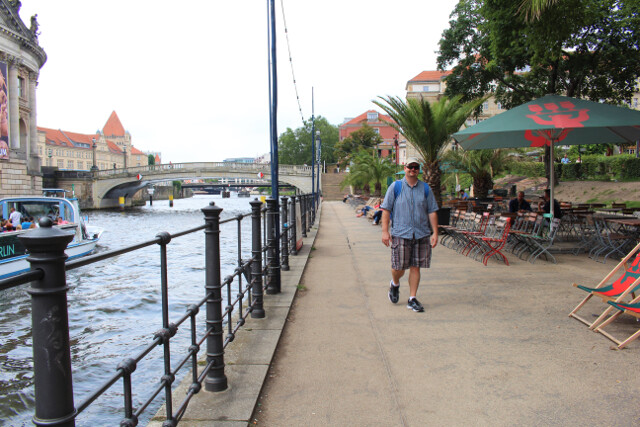 Downtown Berlin along the River Spree. Very quiet and scenic.