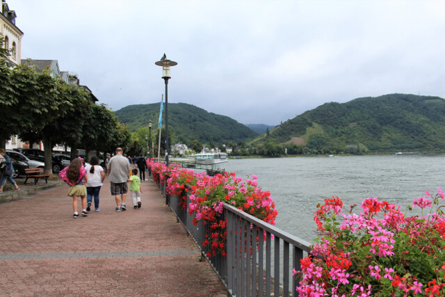 Lots of walking = time for new shoes. Here we are strolling down the Rhine River in Boppard, Germany (near Koblenz).